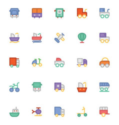 Transport icons 7 vector