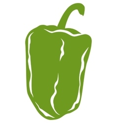 Green pepper in flat style vector
