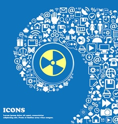 Radioactive icon nice set of beautiful icons vector
