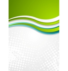 Abstract bright corporate wavy flyer design vector image