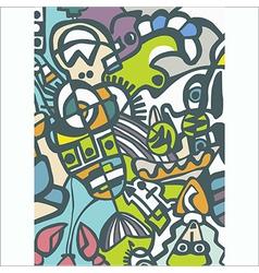 Abstract mosaic vector