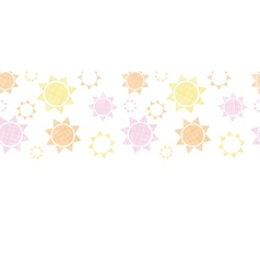 Abstract textile colroful suns geometric vector