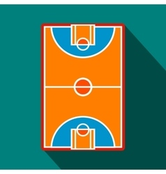 Basketball court field flat icon vector