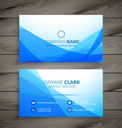 Blue wave business card royalty free vector image blue wave business card vector image reheart Images