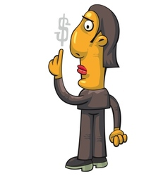 businessman pointing at dollar vector image