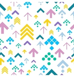 Colorful Arrow Background on White vector image vector image