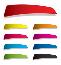 colourful blank tag vector image vector image