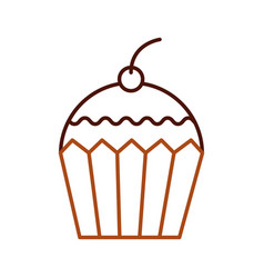 cup cake dessert pastry product food fresh vector image vector image
