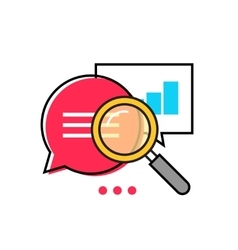 Data analytics icon analyzing information vector