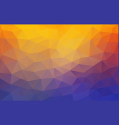 Flat 2d bright yellow and blue abstract triangle vector