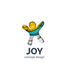 Happy person logo business branding icon vector