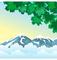 High in mountain vector image
