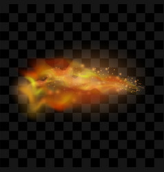 Hot red and yellow burning fire vector