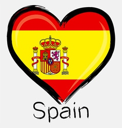 love Spain flag vector image vector image