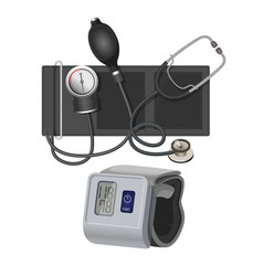 manometer instrument for measuring blood pressure vector image