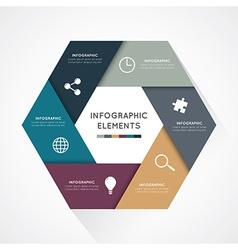 modern hexagon infographics options banner vector image vector image