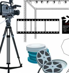 movie gear vector image