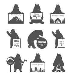 Set Bears vector image