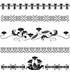 Set elements for design flowers vector image vector image