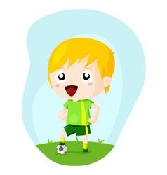 Soccer kid vector