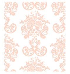 Vintage elegant rose flower ornament vector