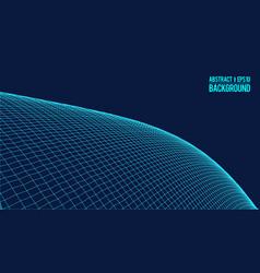wavy linear monochrome procedural terrain striped vector image vector image