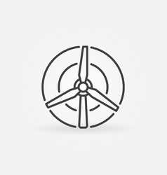 Wind turbine concept icon vector
