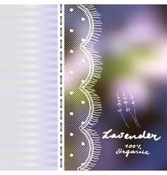 Lavender retro background vector image