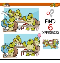Differences task for kids vector