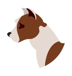Dog head american pitt bull terrier vector