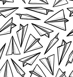 Paper planes pattern vector image