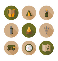 Hiking flat design style vector