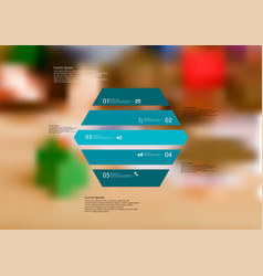 Infographic template with hexagon horizontally vector