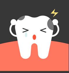 decay tooth cartoon vector image