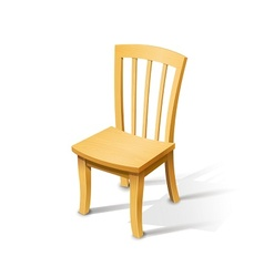 Wooden chair vector