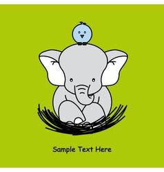 elephant sitting on the nest vector image