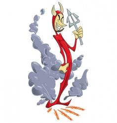 slim devil vector image