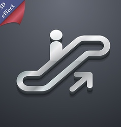 Elevator escalator staircase icon symbol 3d style vector
