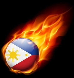 Round glossy icon of philippines vector