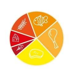 Nutrition infographic isolated icon design vector