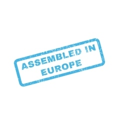 Assembled in europe rubber stamp vector