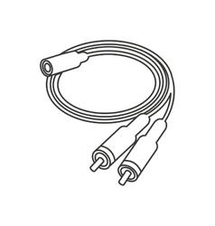 audio plug connector icon vector image vector image