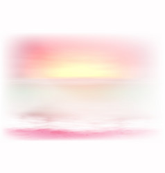 Beautiful purple sea sunset vector