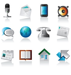 comunication icons vector image