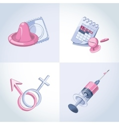 Contraception methods vector