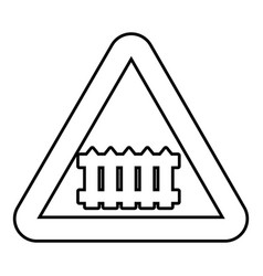 Crossing railroad barrier icon outline style vector