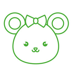 Cute and tender female mouse kawaii style vector