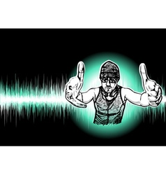 Dj black background vector