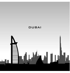 Dubai cityscape vector