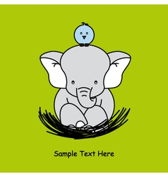 elephant sitting on the nest vector image